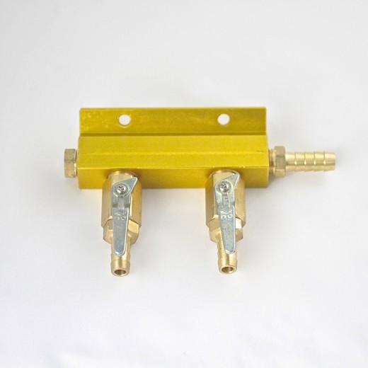 2-way CO2 Air Manifold Distributor