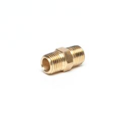 Brass CO2 1/4 MPT x 1/4 MPT, Right Hand Thread
