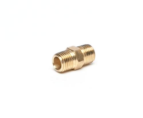 Brass CO2 1/4 MPT x 1/4 MPT, Right Hand Thread