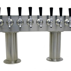4 Inch Double Pedestal Beer Tower