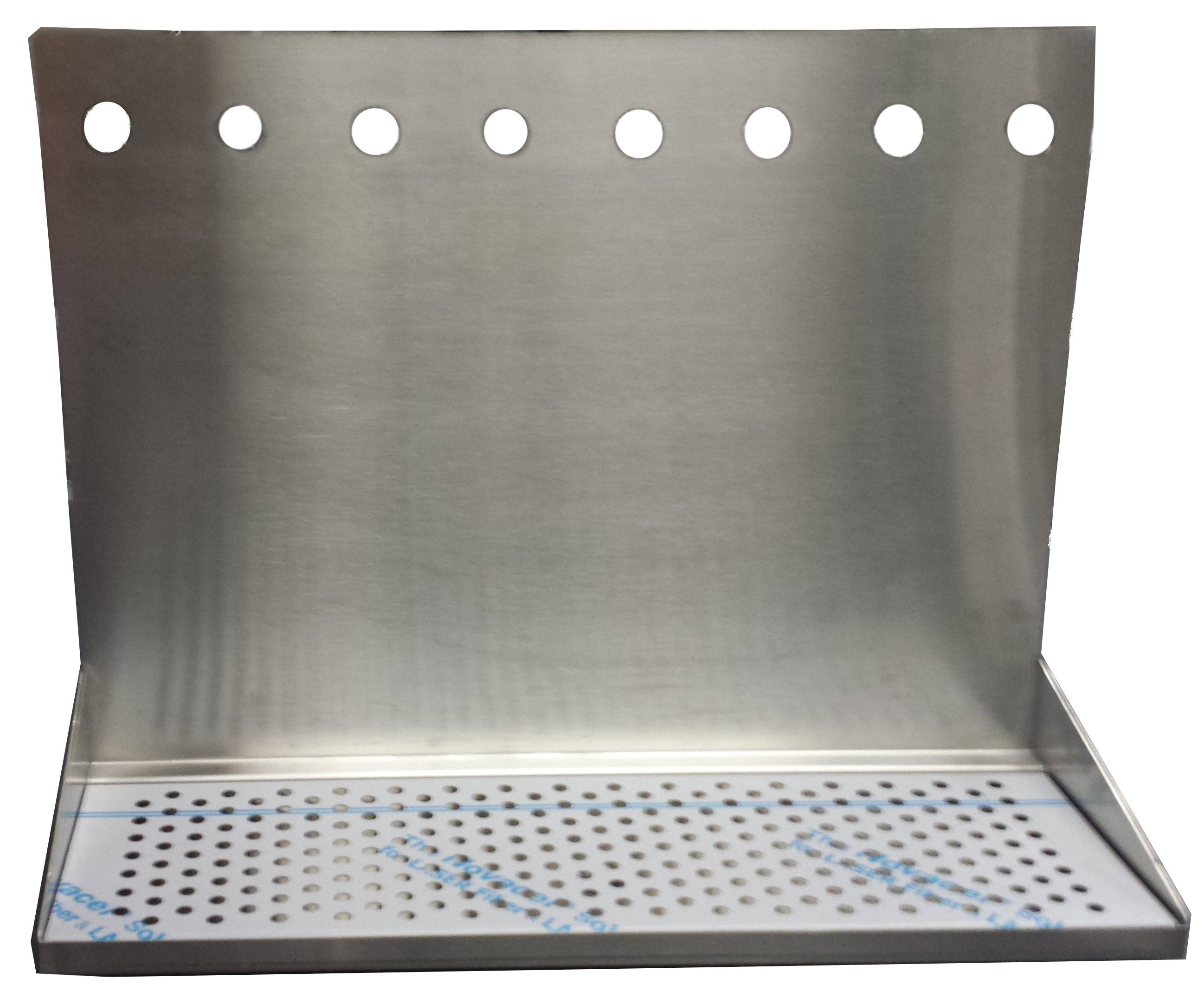 8 Hole Wall Mount Drip Tray 24 Quot With Drain And 18 Quot Backsplash