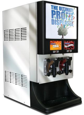 Compact 2 product Frozen Beverage Dispenser