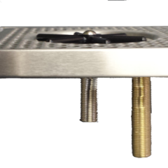 Stainless Steel 8x8 Countertop Glass Rinser