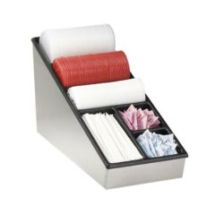 Countertop lid, straw & condiment organizer