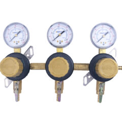 3 Product Secondary CO2 Regulator Panel with Check