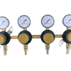 4 Product Secondary CO2 Regulator Panel with Check