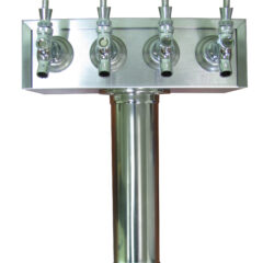 4 Faucet Draft Beer T-Tower