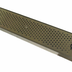 Stainless Steel 45x8 Drip Tray with Rinser