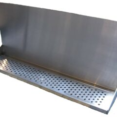 "Wall Mount Drip Tray 36"" with Drain and 14"" Backsplash"